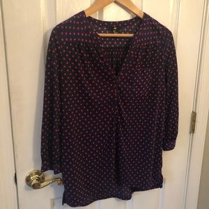 H&M small button front polka dot top